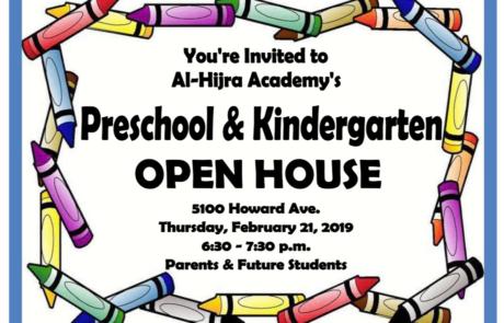 Preschool-Kindergarten Open House – Feb. 21, 2019
